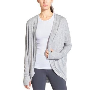 Athleta Pose Wrap Open Front cardigan blue S